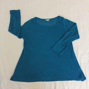 Eileen Fisher Lightweight Blue Sweater